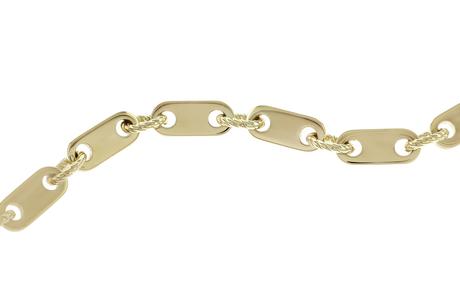 Plattenkette 585/- Gelbgold
