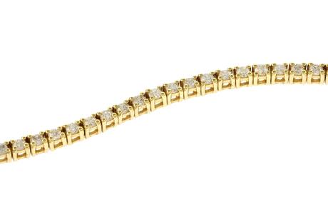 Riviere Armband 750/- Gelbgold mit Diamanten