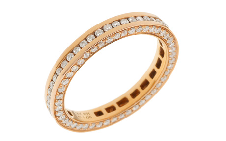 Memoire Ring 750/- Roségold mit Diamanten