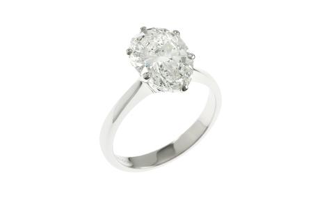 Solitär Ring 750/- Weißgold mit Diamant GIA zertifiziert