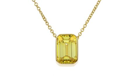 Collier 750/- Gelbgold mit Diamant GIA zertifiziert