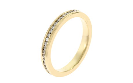 Memoire Ring 750/- Gelbgold mit Diamanten