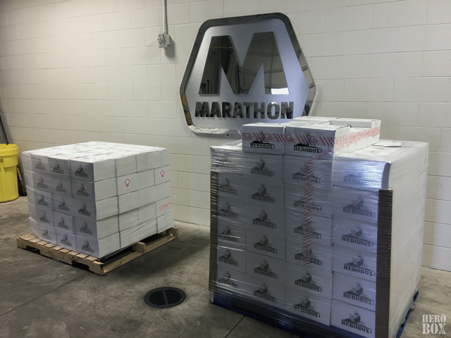 Marathon sends over 400 HeroBoxes!