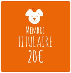 Membre titulaire:20€