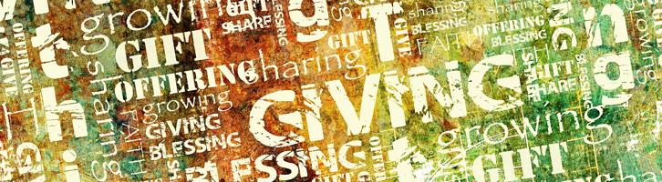 Giving tithing contemp header