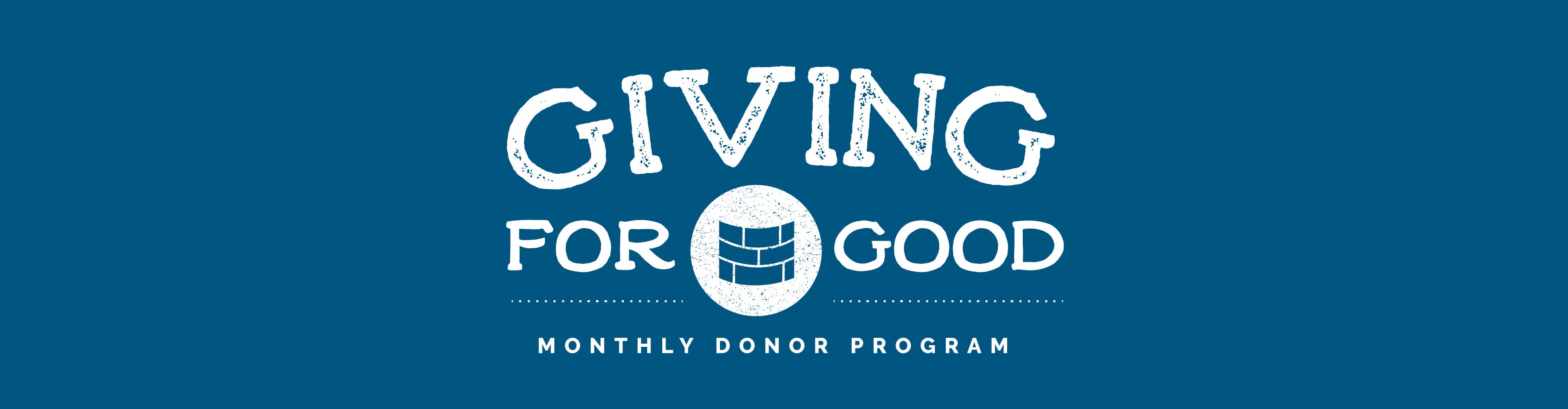 Giving for good header