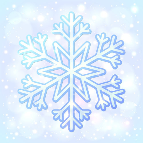Blue snowflake halation background vector 576755