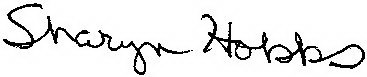 Sharyn hobbs signature010