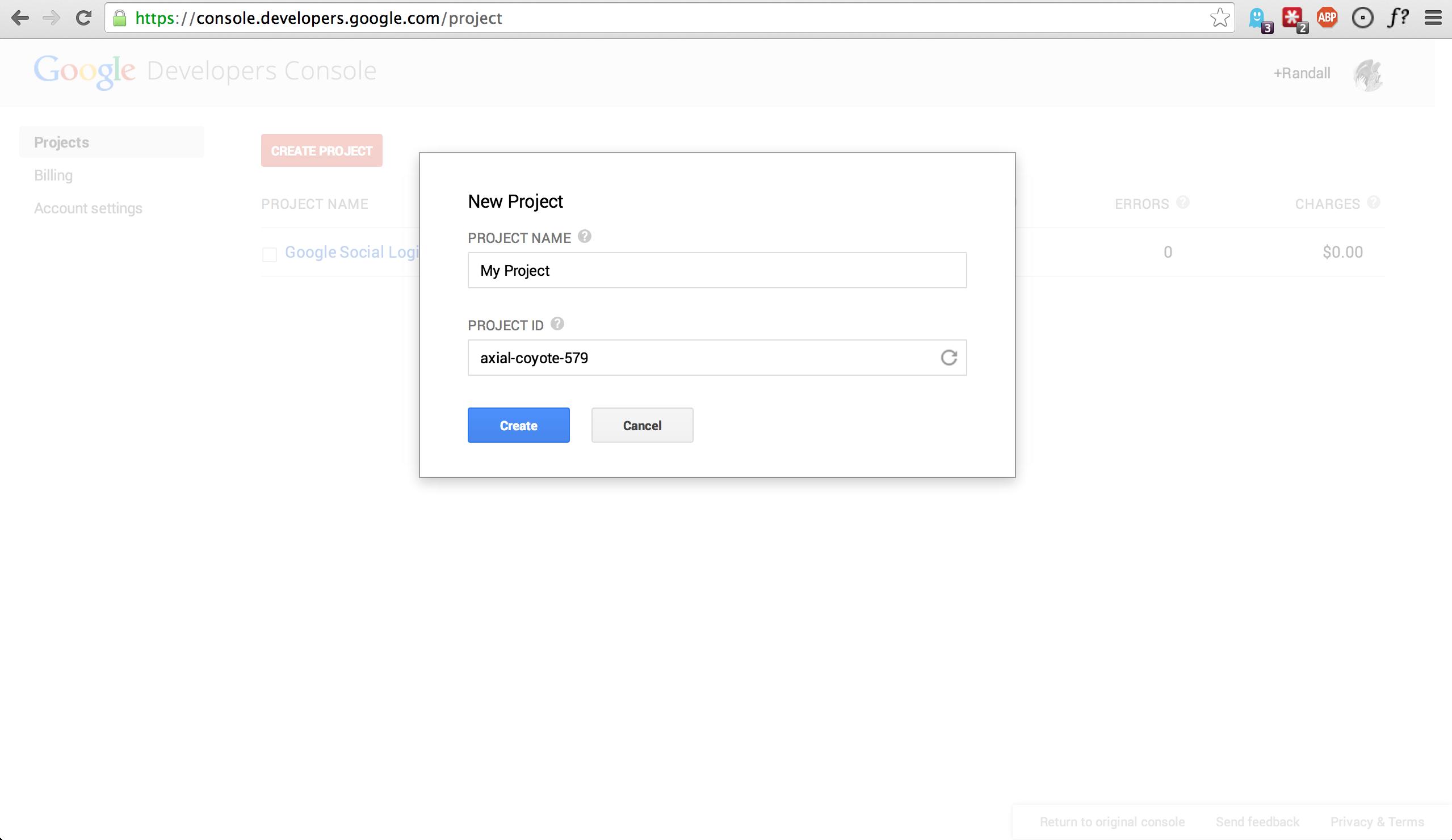 Google Create App