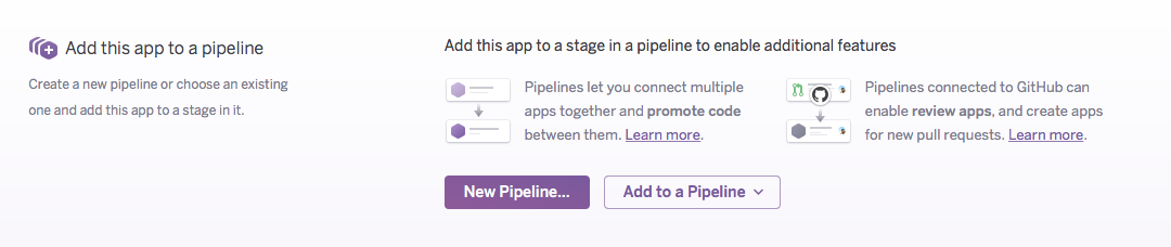 Create pipeline from app