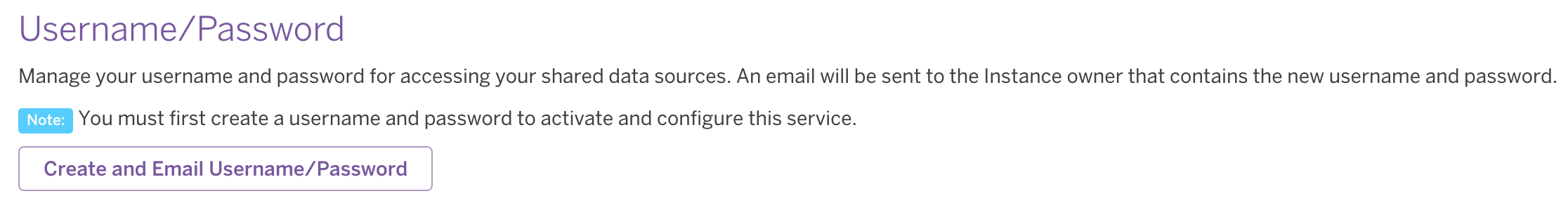 Heroku External Objects UI - 'Create and Email Username/Password' button