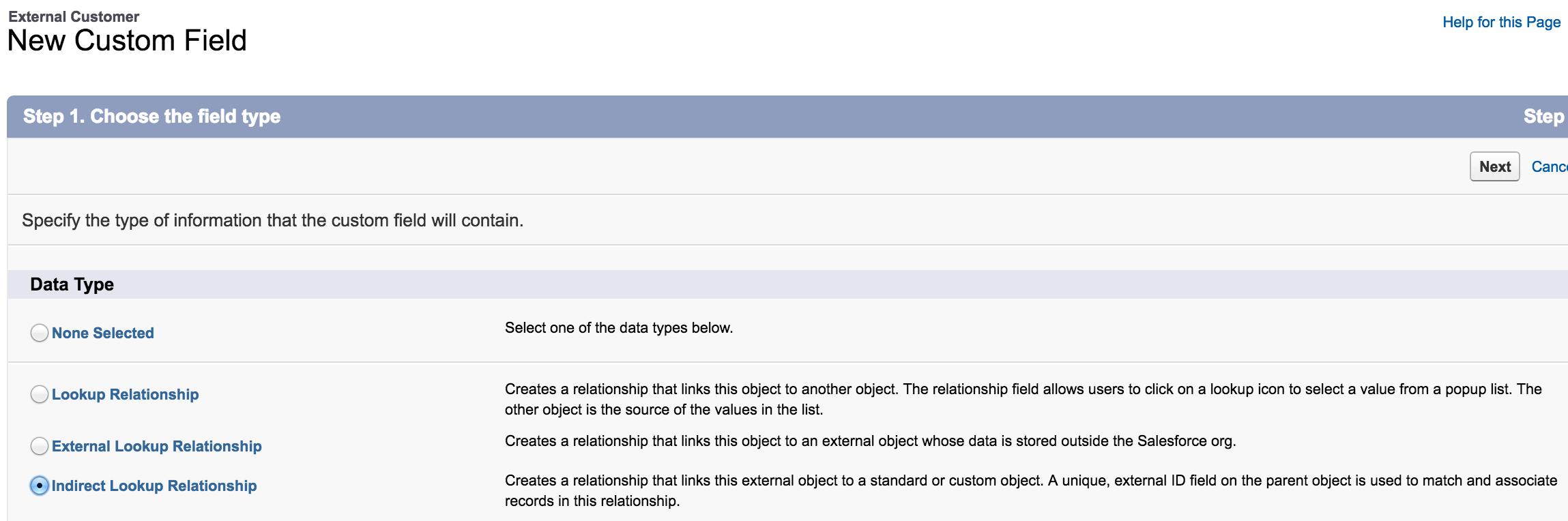 Salesforce UI - indirect lookup relationship