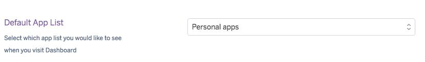 default app list