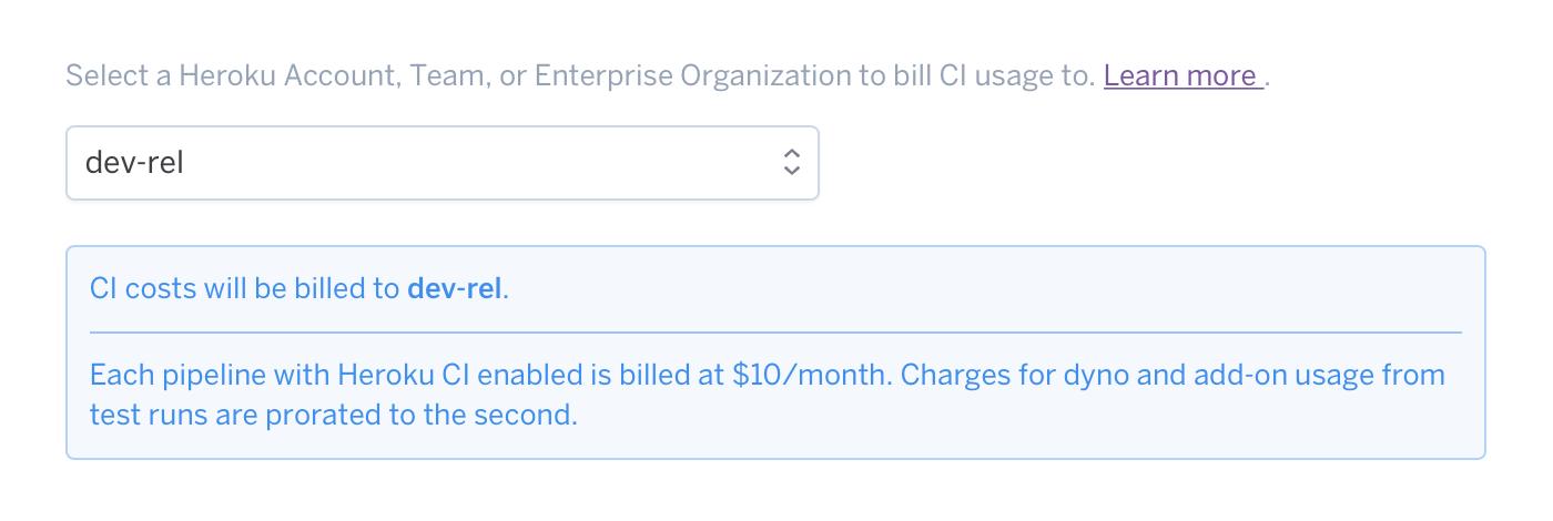 CI billing selector