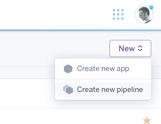 Create pipeline from app list