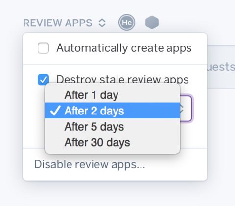 Idle Review apps self-destroy setting