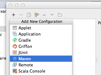 Create new Maven Configuration in IDEA
