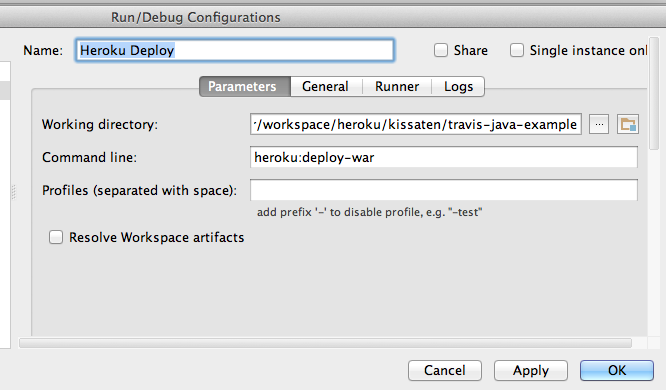 how to run java file in intellij