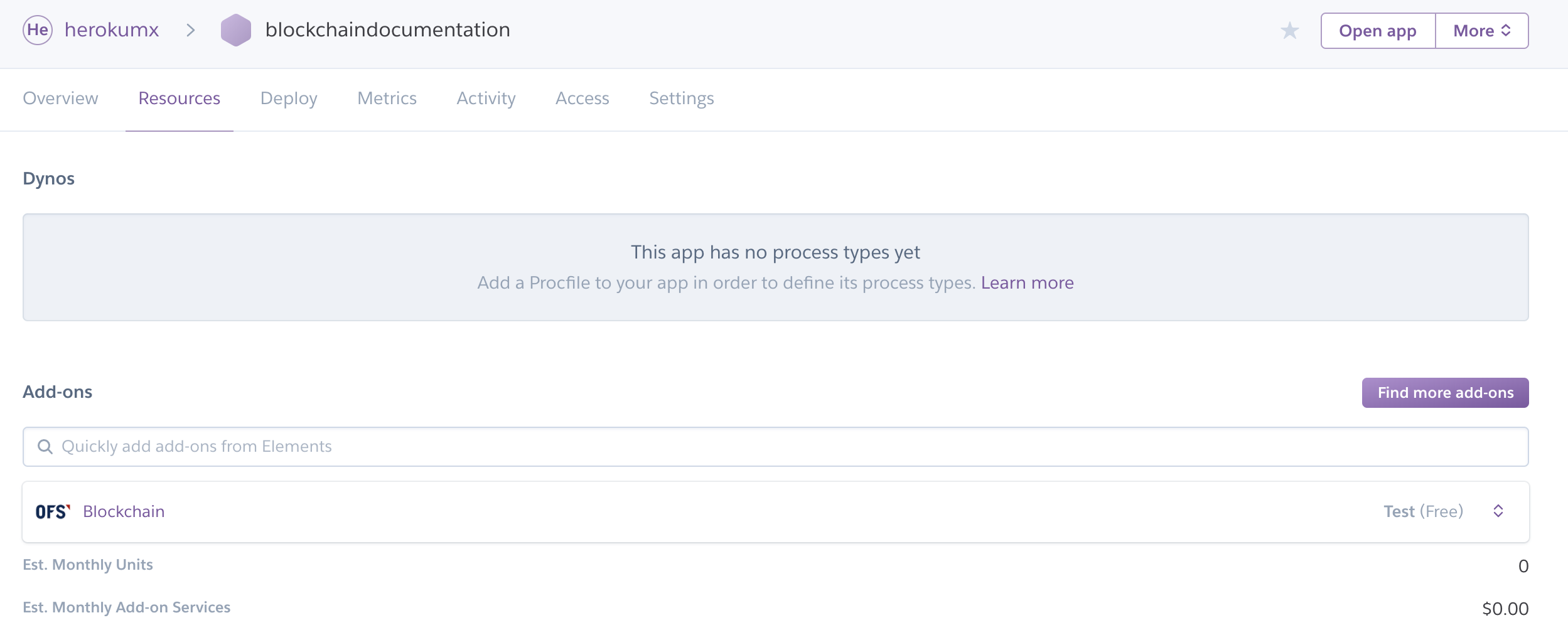 App Resources Tab