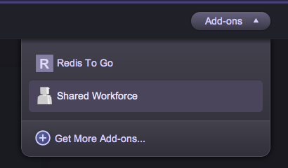 Shared Workforce Add-ons Dropdown