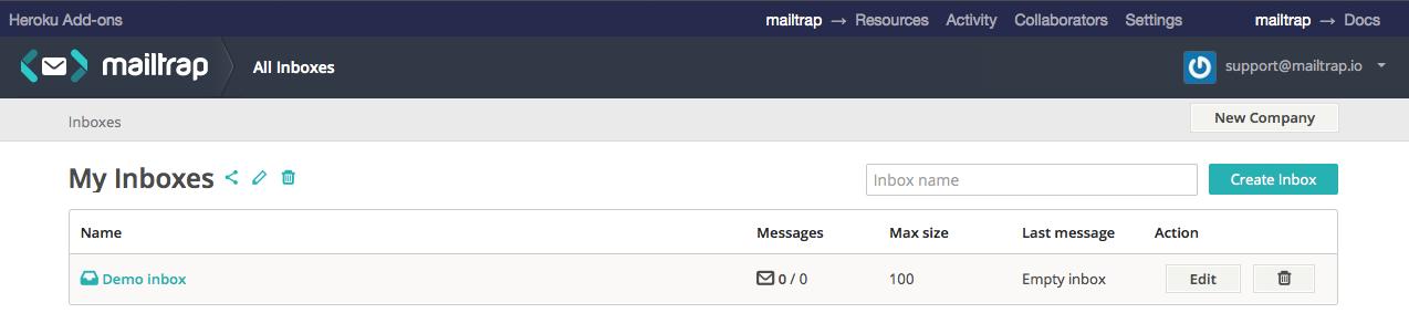 mailtrap mock server