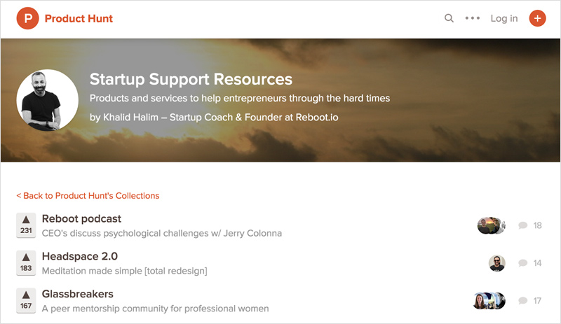 Product Hunt Startup Resources
