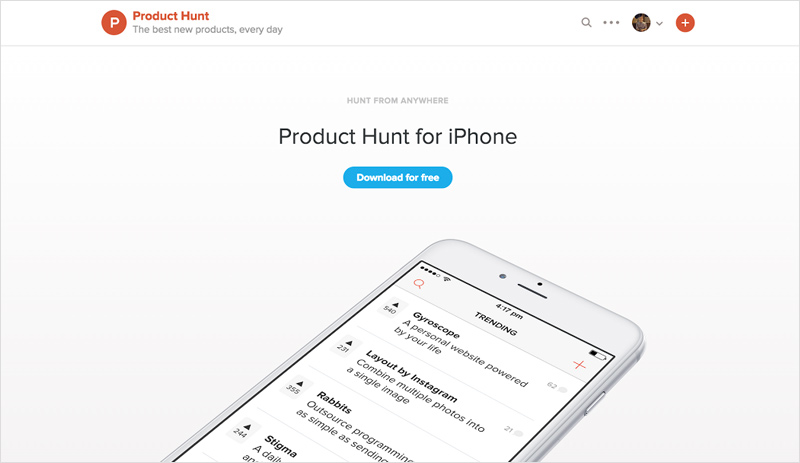 Product Hunt for iPhone