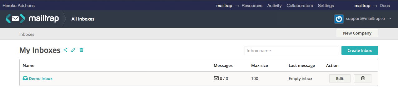 mock SMTP server