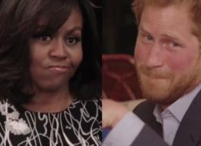 미셸 오바마의 도전에 영국 해리 왕자가 조소를 보내다