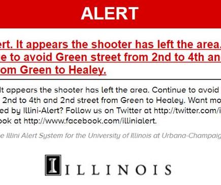 美일리노이대학서 '말싸움이 총격으로' 1명 사망 5명 부상