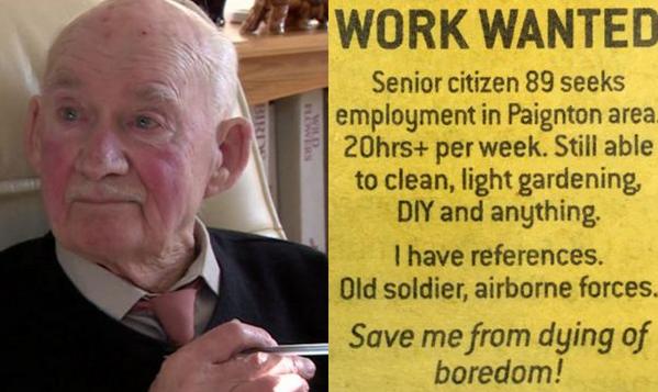 신문에 구직 광고 낸 89세 할아버지, 레스토랑 취직 성공