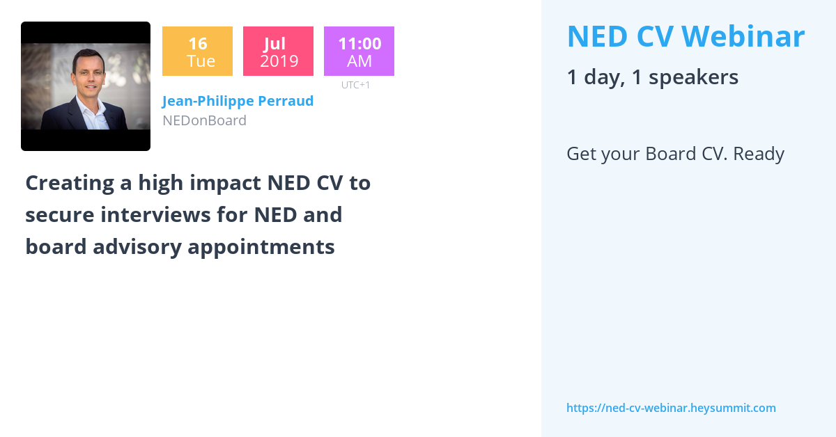 creating a high impact ned cv to secure interviews for ned