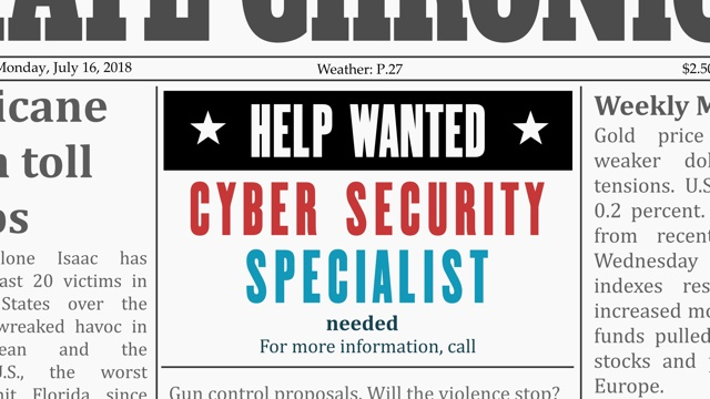 Help Wanted! Cyber Security Specialist Needed!
