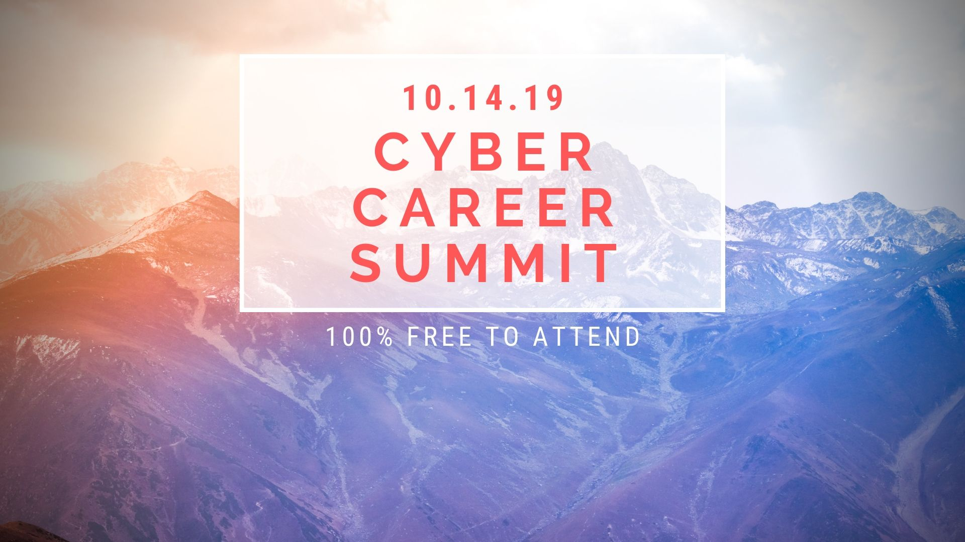 Registration for the #CyberCareerSummit is now open!