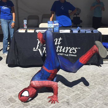 Spiderman vendor booth