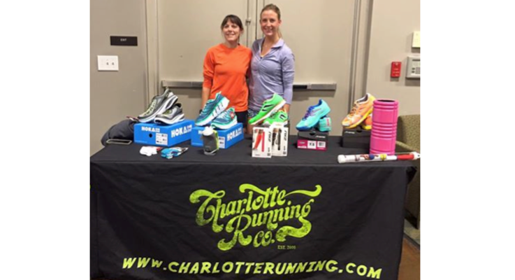 Charlotte running co booth photo