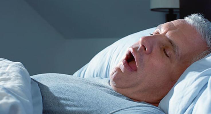 Corbis rm photo of mature man snoring