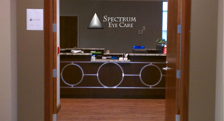 Spectrum eye care colony rd entrance photo mockup with logo