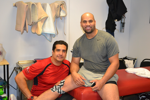 Gabriel Carvajal (MPT) with Professional Baseball Player Pujols