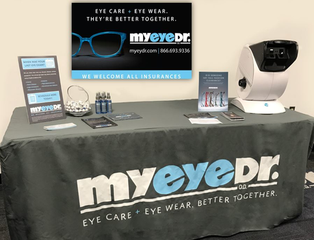 MyEyeDr. Health Fair Table with Vision Screening Machine