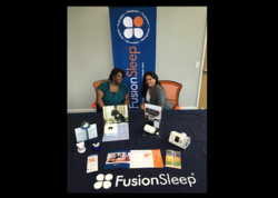 Fusion sleep health fair booth photo