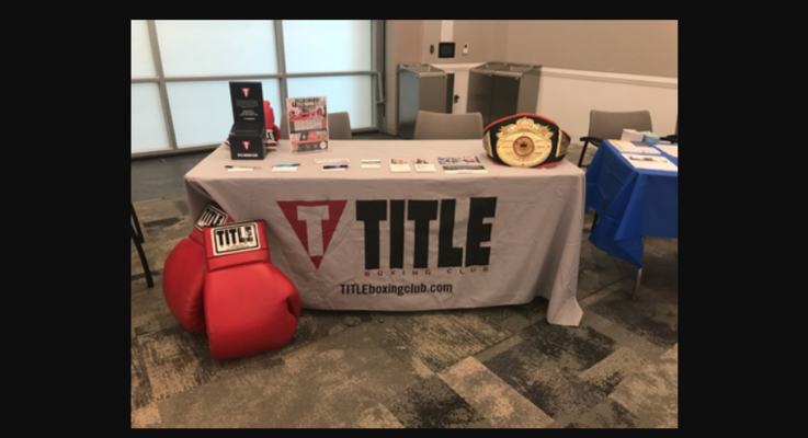 Title boxing health fair booth photo