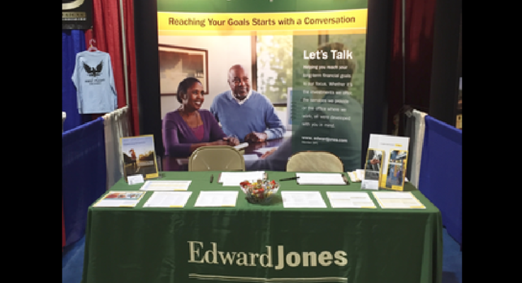 Edward jones health fair booth photo