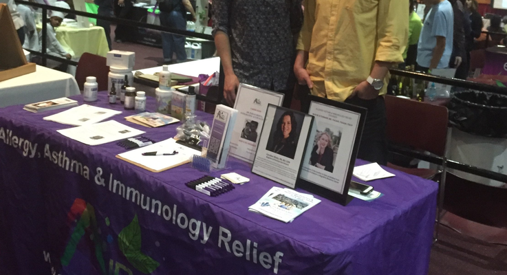 Indoor health fair booth