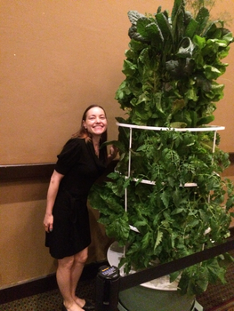 Grow your own food with  a Tower Garden