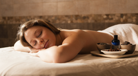 Woman relaxing in a spa copy