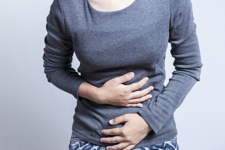 functional dyspepsia woman with a stomachache