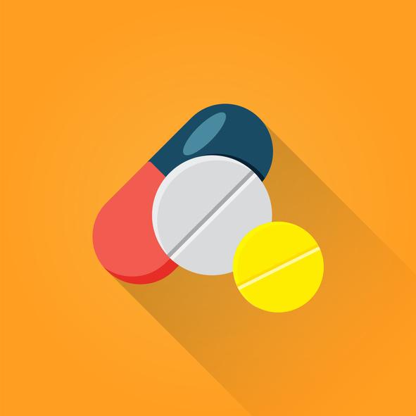 An illustration of 3 types of medicine