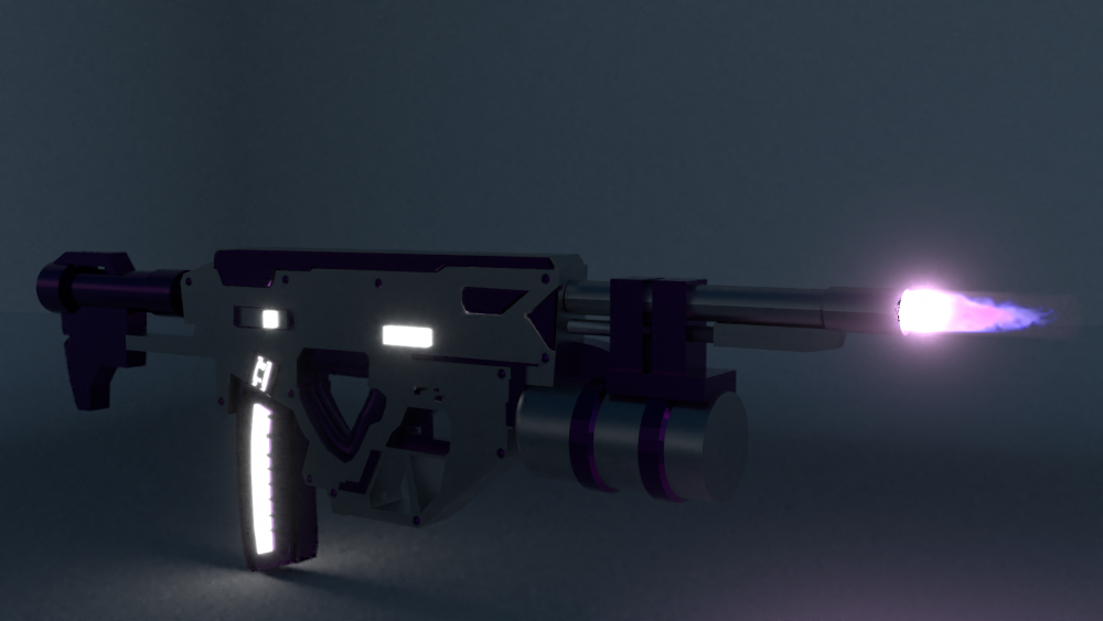 Give your thoughts on this sci fi gun  - Blender / 3D Models