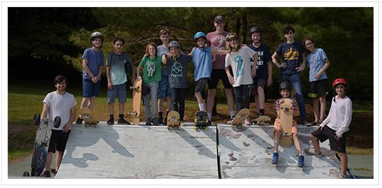 skateboarding class